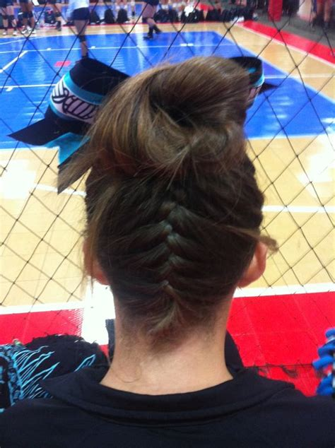 volleyball hairstyles braids love this hairstyle for volleyball volleyball braid