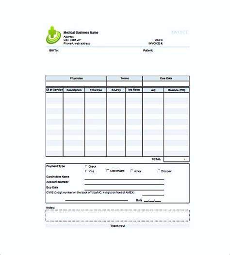 Medical Billing Invoice Templates Free Medical Invoice Template The Format Of Medical Billing Invoice Template Free