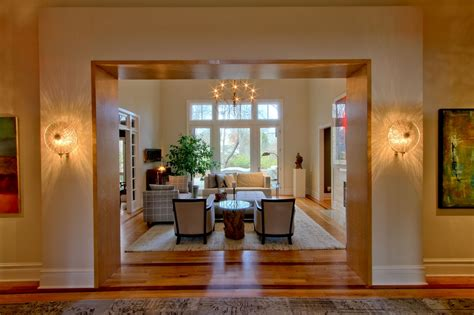 living room entryway multi space renovation in spring mill indianapolis