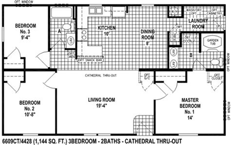 gallery for gt mobile home floor plans 3 bedroom