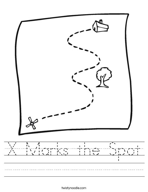 coloring page x marks the spot x marks the spot worksheet twisty noodle
