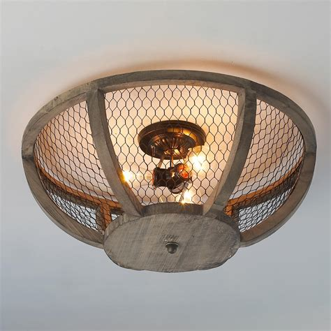 farmhouse ceiling lights chicken wire basket ceiling light small wire baskets