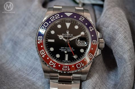 Jam Replika Rolex Gmt Master Ii Black Pepsi Swiss Eta 1 1 rolex gmt master ii pepsi 116719blro monochrome watches