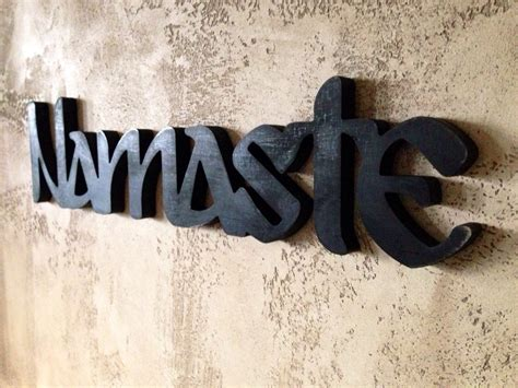 sign namaste black sign namaste home decor