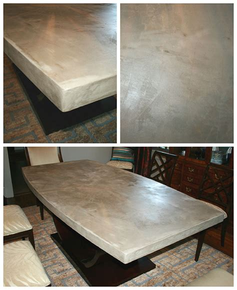 a concrete table top diy concrete table top chic and durable