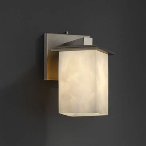 Flat Wall Sconce Montana Square Flat Angled Bobeche Wall Sconce Modern Wall Sconces By Lightology