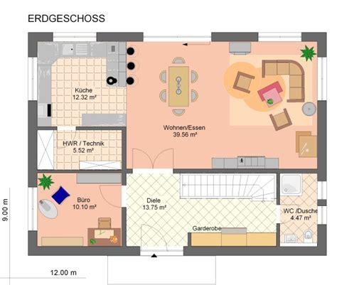 haus 9x11 grundriss einfamilienhaus mit gerader treppe