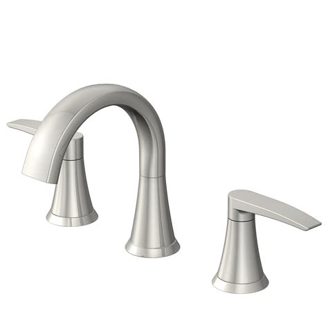 bathroom faucets brushed nickel shop lyndsay brushed nickel 2 handle widespread