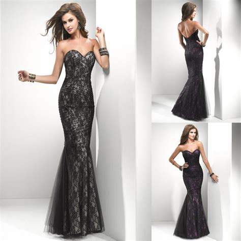 Unique Sweetheart Mermaid Corset Back Floor length Black Champagne And Purple Sexy Tulle Lace