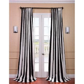 black stripe curtains cabana black stripe cotton curtain panel