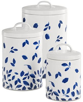 martha stewart collection closeout  pc stockholm lidded canisters set created  macys