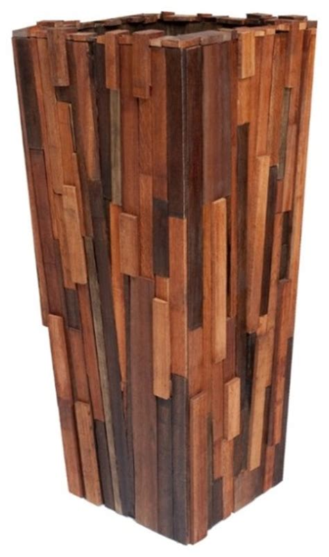 indoor wood planter salvaged wood planter contemporary indoor pots and
