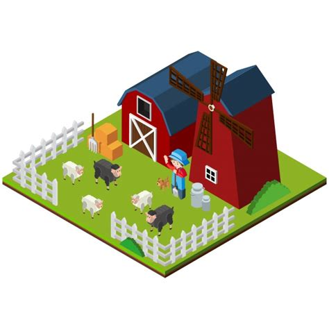 farm layout design software free download isometric farm design vector free download