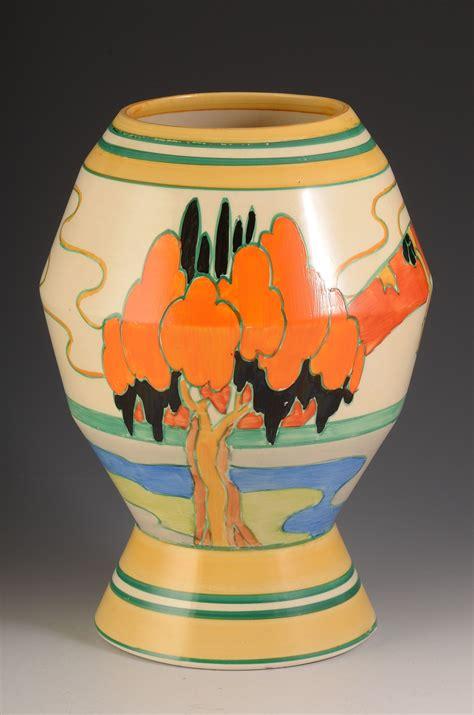 Clarice Cliff Vase by Clarice Cliff Solitude 365 Vase C 1932