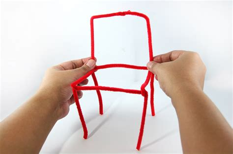 how to make craft how to make a pipe cleaner chair 4 steps with pictures