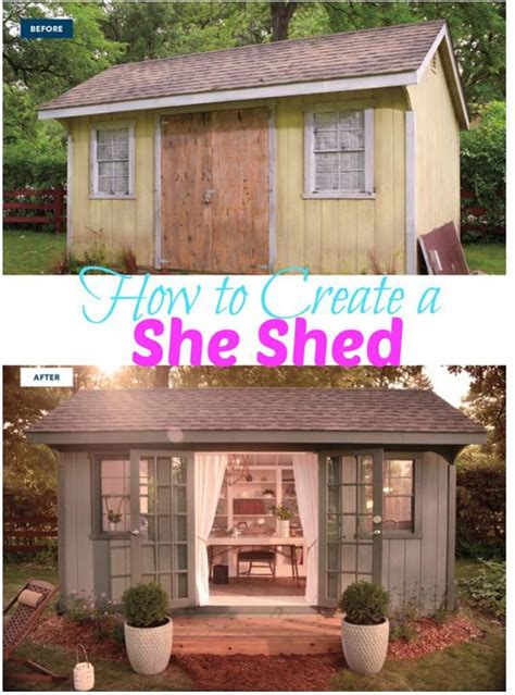 how to build a she shed 13 shed transformations that ll make your neighbors jealous