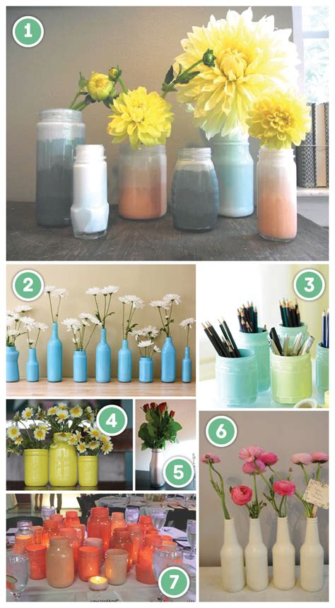 Diy Glass Bottle Decor by Diy Painting Glass Jars Bottles Pizzazzerie