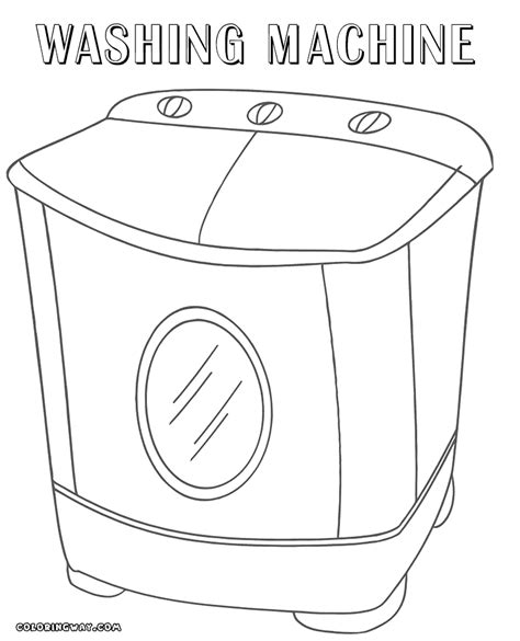 washing machine coloring page coloring pages