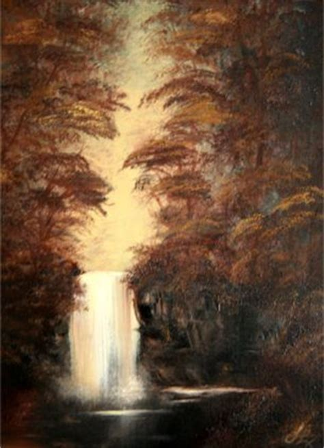 bob ross painting a waterfall waterfall bob ross painting