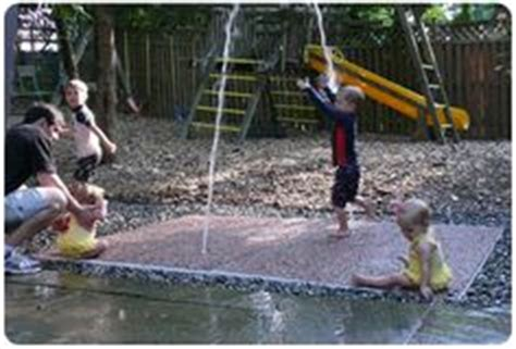 build your own backyard splash pad backyard splashpad on pinterest backyard splash pad