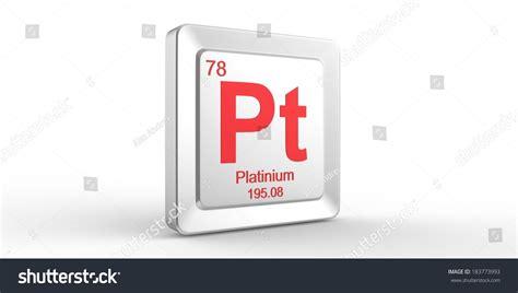 pt of elements pt symbol 78 material platinum chemical stock illustration