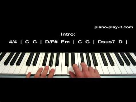 Reason Tutorial Keyboard | 10000 reasons piano tutorial matt redman youtube