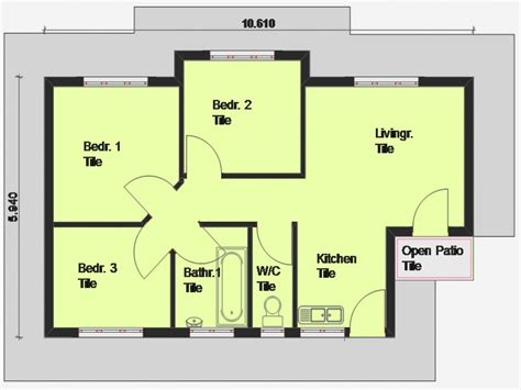 free floor plans cheap 3 bedroom house plan 3 bedroom house plan south