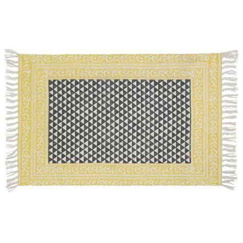 tappeto bianco e nero tappeto nero bianco in cotone 60 x 90 cm medan maisons