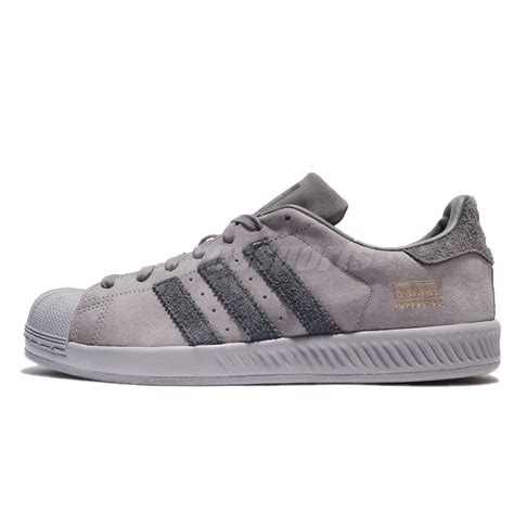 adidas originals superstar bounce grey suede shoes sneakers trainers bz0217 ebay