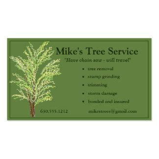 Tree Removal Business Card Templates by Tree Removal Services Gifts T Shirts Posters