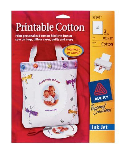 avery printable cotton fabric white how to make your own fabric printer paper infobarrel