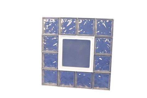 ips 32 quot x 32 quot wave glass block panel with hopper vent at