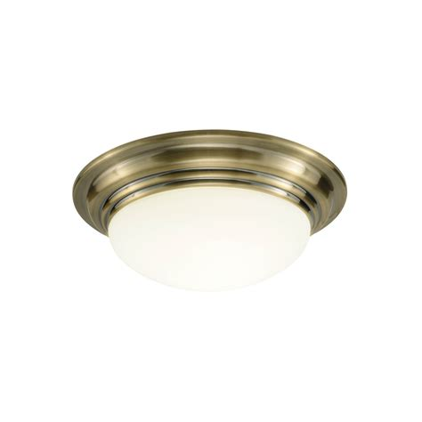 Brass Ceiling Light Fittings Dar Bar5075 Barclay 1 Light Antique Brass Large Flush Fitting