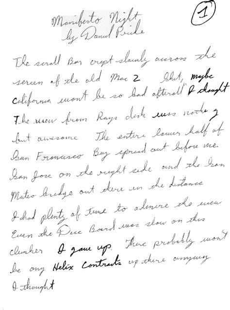 handwriting analysis describing unabomber manifesto 01