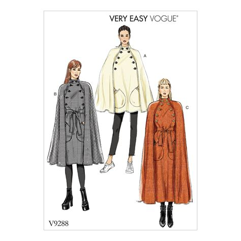 pattern review vogue 1415 vogue patterns 9288 misses cape with high collar pockets