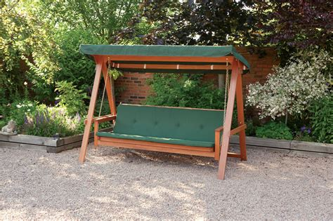 wooden outdoor swing seat quality wooden swing bed 3 seater garden swing seat with