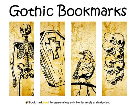 Printable Gothic Bookmarks | free printable gothic bookmarks download the pdf template
