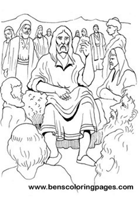 Sermons For Coloring Pages Jesus Preaching Page