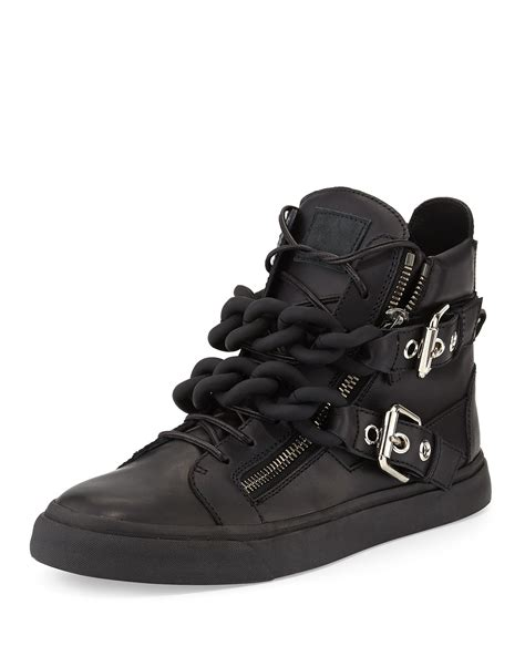 giuseppe sneakers for giuseppe zanotti mens chain high top sneaker in