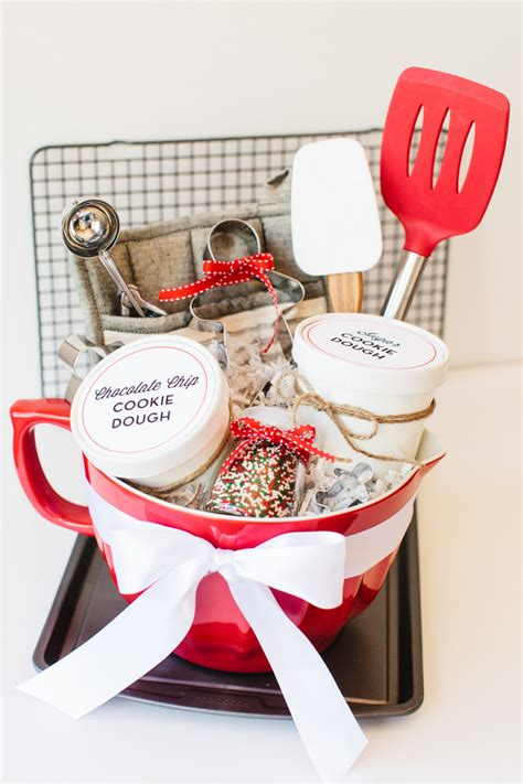 holiday cookie gift basket free printables studio and
