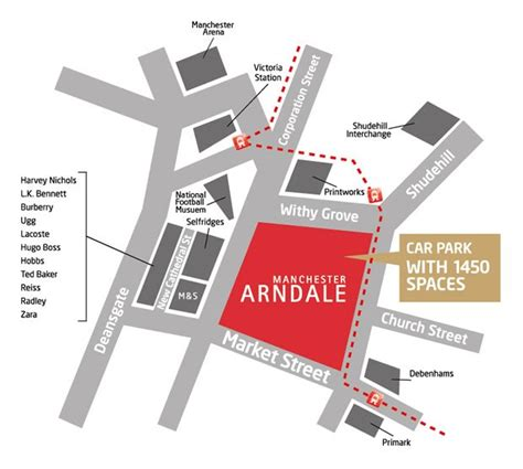 Manchester Arndale Gift Card - plan your visit to manchester arndale