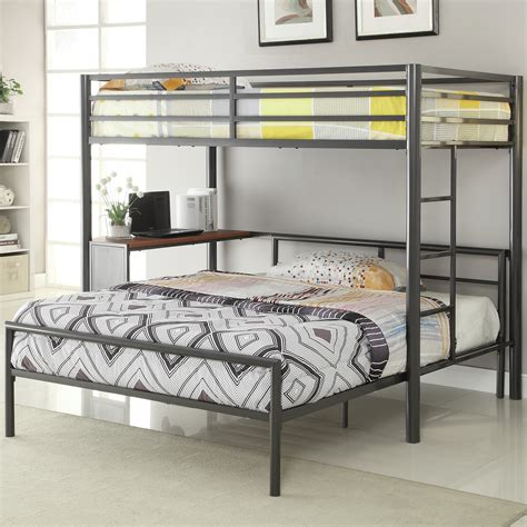 bunk beds full over queen wildon home 174 twin over full l shaped bunk bed reviews
