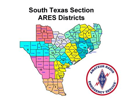 south texas counties map harris county ares