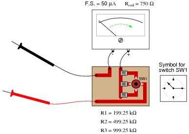 how to find resistor value using multimeter determine the different range values of this multi range voltmeter