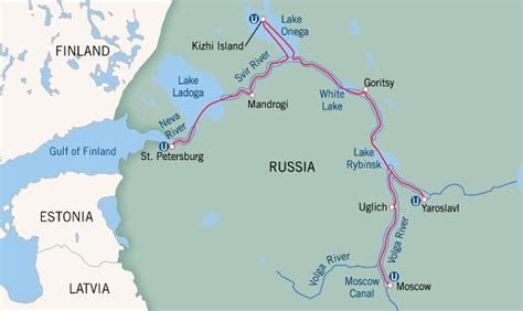 map of russia with cities and rivers cruise the russian waterways from moscow to st petersburg