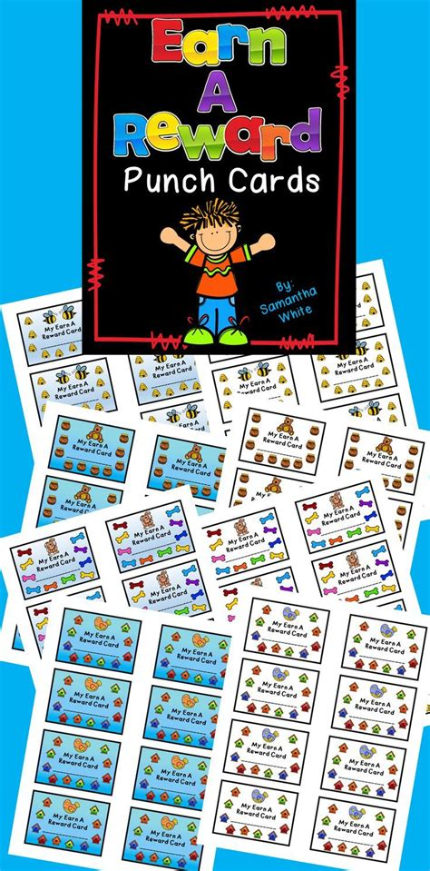 Bac A 5791 by Earn A Reward Punch Cards Tpt Free Lessons