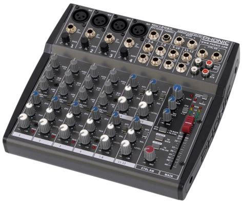 Mixer Audio Phonic phonic mu1202x audio mixer with effect processor
