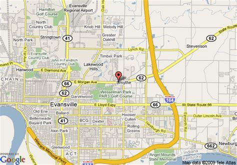 map of evansville indiana inn express evansville hotel best free home
