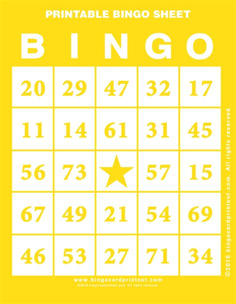 for printable printable bingo sheet bingocardprintout