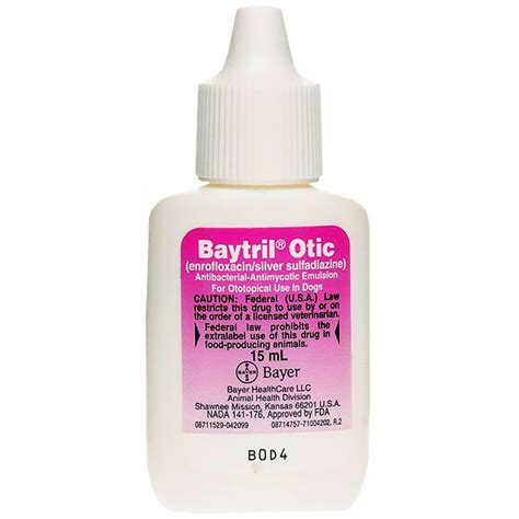 baytril dosage for dogs baytril otic drop 15ml